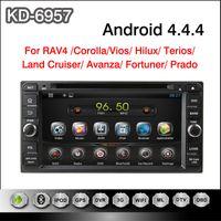 "Wholesale Car Dvd Player Toyota Hilux - 2 din 6.95"" Android 4.4 Car DVD Player For Toyota universal Rav4 Corolla Vios Hilux Terios Avanza Prado with 3G WIFI GPS Navigation"