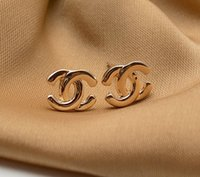 Wholesale 24pieces Pairs X Rose Gold Classic LOGO Celebrity Stud Earrings Ear Studs Pin nickel free
