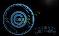 advertising baseball - LA266 TM Chicago Cubs Baseball Gifts Neon Light Signs Advertising led panel jpg