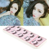 Wholesale New Arrival Pairs Cross Charming Soft False Eyelashes Synthetic Fiber Fake Eye Lash Cosmetic Tool W2020