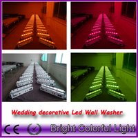 Wholesale 5 lights fly case RGBWAUV IN Led battery power wireless dmx wedding led up lights wireless dmx led wall washer