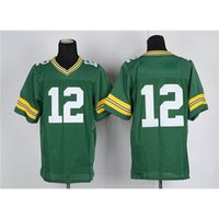 Cheap #12 Green American Football Jerseys New Arrival Football Uniforms for Men New Style Outdoor Apparel Comfortable Sports Jerseys Fast Ship