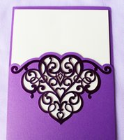 baptism party invitations - Bright Purple Shiny Hollow Pattern Wedding Party Baptism Invitations Cards