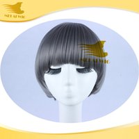Cheap 2015 New Stylish wig Heat Resistant grey Short Straight Fashion Sexy Party Cosplay Synthetic Hair Bobo Wigs