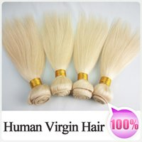Wholesale European Bundles Blonde Hair Extensions A High Quality Grade Straight Brazilian Human Hair No Tangle No Shedding Can Cut and Very Soft