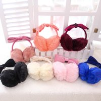 Wholesale Ms Size Candy colors Winter cold plush earmuffs Head mounted earmuffs Color optional Work Travel necessary