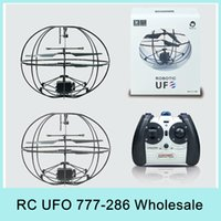 Cheap X4 Robotic UFO 777-286 3.5Channel I R Flying Ball RC Helicopter Aircraft With Gyro Happycow Radio Remote Control Big Discount