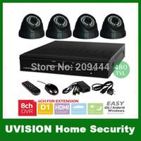 Wholesale HDMI CH CCTV Security Cameras DVR System TVL Sony CCD indoor dome cameras ch Kit for DIY CCTV Systems