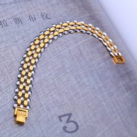 asian factories - Factory Sales Not Fade Bracelet Men s Fashion Direct Selling New Arrival Link Chain Copper k Gold Plated Chirstmas