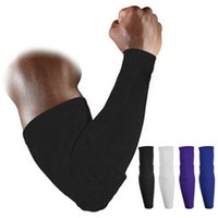 Wholesale High Elastic Gym Sports Long Arm Sleeve Support Basketball Shooting Honeycomb Sport Elbow Arm Warmers Pad for Men
