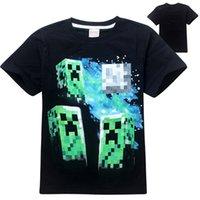 Cheap Boys Minecraft Tshirts Best Cartoon Cotton Tees