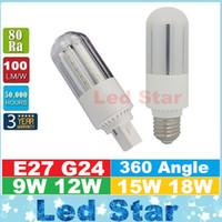 Corn ac lighting design - 2016 New Design PL Light LED Corn Light W W W W E27 G24 Led Bulbs CFL Lamp Degree AC V