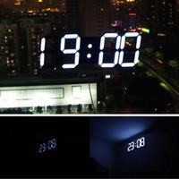 led digital wall clock - Remote Control Large LED Digital Wall Clock Modern Design Home Decor d Decoration Big Decorative Watch Size mm