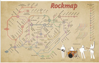 big band singers - Rockmap music band singer history Diagram bar Poster Print Poster Silk Wall Poster30x20 inch Big Office Room Prints Mural Decors