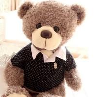 baby doll shirts - 2015 New cm Genuine polo shirt Teddy Bear plush toys teddy bear doll Baby bear Plush Stuffed Animals Toys Plush Doll girls Gift V131