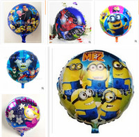 inflatable toy - 82 styles Halloween Minions balloons Frozen Balloons for Party Decoration Helium Cartoon Foil Inflatable Kids Toy Christmas Balloon R001076