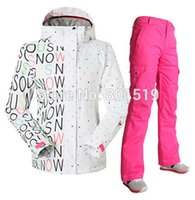 Wholesale new fashion women ski suit windproof and breather ski suit waterproof snow boarding suit