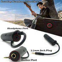 Multi-Effects bass amplifiers - Bass Guitar Amplifier Adapter mm Plug Recording Microphone Guitar Effect Adaptor For iPad iPod Touch iPhone s IOS System Rock Out