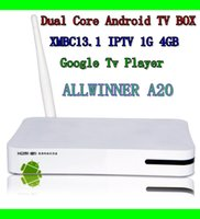 av controller box - AllwinnerA20 Dual Core A20 Google Android Wifi HD Smart Tv Box AV RJ45 HDMI Output And Remote Controller ROM4G RAM G TV BOX