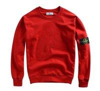 Wholesale new STONED ISLAND autumn winter Men s O Neck long sleeve Hoodies is land Thickened plus velvet Hoodies Sweatshirts