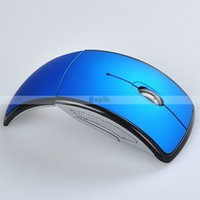 Wholesale Mini USB Ghz Snap in Transceiver Optical Foldable Folding Arc Wireless Mouse for PC Laptop Computer with Crystal Package