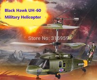 air hawk - U S Military Air Force Black Hawk UH Aircraft Channel Infrared Radio Controlled Gyro with Led Helicopter Model RTF Toy