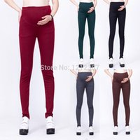Wholesale Fashion Cotton Maternity Pants Skinny Pregnant Women Trousers Slim Pencil Pants Leggings Colors HB88
