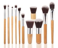 high quality cosmetics makeup - Populat products Professional High Quality Bamboo Makeup Brush Set Goat Hair Cosmetic Makeup Brushes Kit With Bag DHL sets