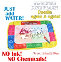 aqua doodle mat - 2015 Magic X19cm Colorful Kids Water Drawing Toy Mat Aqua Doodle Mat Magic Pen ECO Friendly Harmless Coloring Writting Board Baby Toys