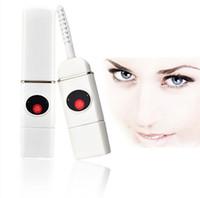 mini eyelash curlers - Mini Heating Eyelash Curler USB Rechargeable Heated Eyelash Curler Perm Electric Eyelashes Applicator carbon ceramic heat Tools Professional
