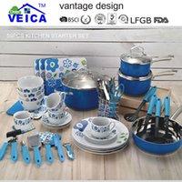 Wholesale Cast Aluminum Cookware Cooking Pots And Pans Set Sale Cookware Jogo De Panelas Kitchen Cabinet Starter Kit