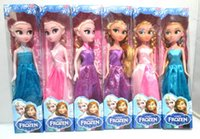 Wholesale Frozen The surrounding snow adventure Queen Princess ElsaAnna dolls small Boxed The doll is solid and each joint can be moved CM LONG