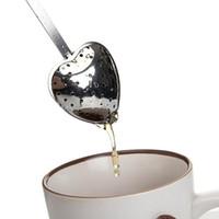 stainless steel spoon - Heart Shaped Tea Infuser Spoon Strainer Stainless Steel Steeper Handle Shower tea infuser tea infuser tea strainer TY1025