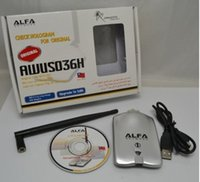 alfa wifi adaptor - Original Retail Package with Card Case mW Alfa Network AWUS036H USB Wireless G N WiFi Adapter Adaptor dBi Antenna RTL8187L RTL3070L DHL