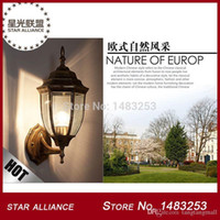 aluminium die casting lamp - Aluminium Die casting Porch Light Brass Black Outdoor Wall lamp on Sale Cottage Style Garden Light