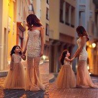 Cheap Flower Girl Dresses Wedding Gowns Pearls Beading V Neck Princess Floor Length Girls Pageant Dress 2015 Arabic Hot Sale Champagne