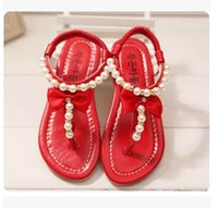 baby thong sandals - In the summer of the new children s shoes girls sandal thong baby shoes princess han edition tide bore pearl elastic