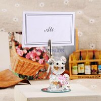 baby names pictures - Pink Crystal Bear Place Card Holder Wedding baby shower party picture name holder frame