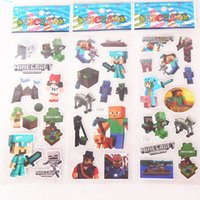 Wholesale Minecraft Stickers My Little Pony Big Hero Baymax Wall Stickers Cartoon Children Kids Boys Girls Toys Gifts Paster Christmas Decals by DHL