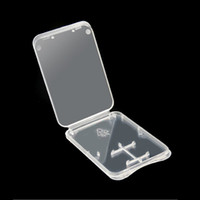 Wholesale 1000pcs in Standard SD SDHC Memory Card Case Holder Micro SD TF Card Storage Transparent Plastic Box