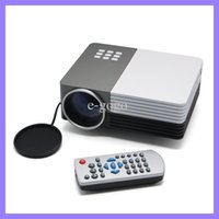 Wholesale 150LM P D LCD Home theater LED Projector GM50 Projektor Full HD Video Beamer Support Micro USB VGA AV USB SD