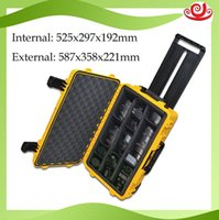 Wholesale waterproof safety equipment case Impact PP ALLOY Plastic sealed tool case tool box with Sponge Foma GL