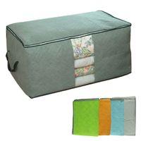 Increíble carbón de bambú bolsa de almacenamiento de la ropa de cama edredón de almacenamiento organizador del bolso para no wooven 60 * 42 * 36cm