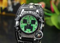 Wholesale minecraft watch Minecraft Creeper watch cartoon box watches luxury watches minecraft kids watches brand wristwatch D1657