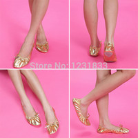belly dance slippers - Brand New Women girl Kid Soft Canvas Belly Dance Shoe Fitness Gymnastic Slippers Flats