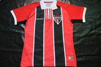 Wholesale 2015 Soccer Jerseys Club Sao Paulo Jersey Red White Black Colo Jersey S M L XL Mix Match Order Customs Jersey Thai Version High Quality