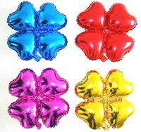 aluminum arch - 50pcs alumnum balloons Festival party supplies New aluminum uprights balloon Clover mall arches arranged four ball heart shaped four bal