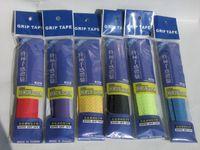 Wholesale Free Shipment Tennis Racket Taps Racket Grip Anti skid Sweat Absorbed Wraps Taps Tenis Badminton Grips Racquet Damper Overgrip