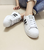 shell sandal - Hot salesadidas Superstar S Man Women shoes Shell head sandals Couple of sneakers Skate sneakers white Black