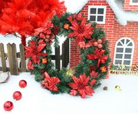 christmas wreath ring - Christmas decorations hang beautifully door Vine Ring Set Decoration cm red door decoration wreath